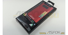 Внешний аккумулятор ASPOR Q388 (Power Bank), красный