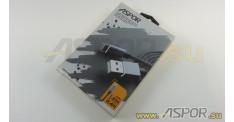 Кабель ASPOR A131, micro USB, серый, 1.2м