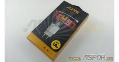 Зарядное устройство ASPOR A818  USB, + кабель USB - Lightning