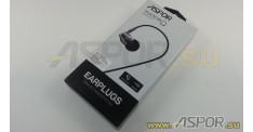 Наушники ASPOR A203 (черный) + микрофон