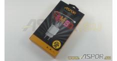 Зарядное устройство ASPOR A818 Plus, USB + кабель Lightning