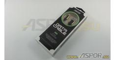 Кабель ASPOR A156, lightning USB, золото