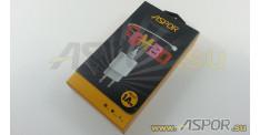 Зарядное устройство ASPOR A818, USB + кабель USB - micro USB