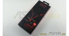 Наушники Aspor A612 (Bluetooth 4.1) + микрофон (красный)