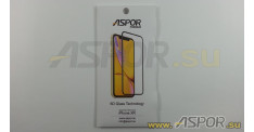 Защитное стекло Aspor 6D (Gorilla Glass ) для телефона iPhone XR, черное