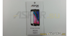 Защитное стекло Aspor 6D (Gorilla Glass ) для телефона iPhone 7/8 (4,7), черное