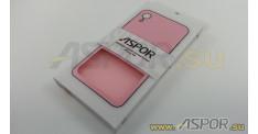 Задняя накладка ASPOR для iPhone XR серия SIMPLE, розовая