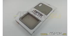 Задняя накладка ASPOR для iPhone X/XS серия SIMPLE, серая
