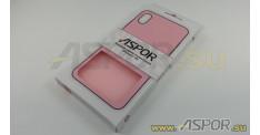 Задняя накладка ASPOR для iPhone X/XS серия SIMPLE, розовая