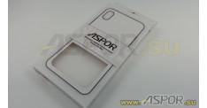 Задняя накладка ASPOR для iPhone XS Max серия SIMPLE, белая
