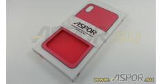 Задняя накладка ASPOR для iPhone XS Max серия SIMPLE, красная
