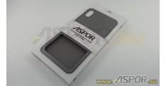 Задняя накладка ASPOR для iPhone XS Max серия SIMPLE, черная