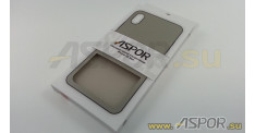 Задняя накладка ASPOR для iPhone XS Max серия SIMPLE, серая