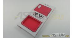 Задняя накладка ASPOR для iPhone X/XS серия SIMPLE, красная