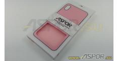 Задняя накладка ASPOR для iPhone XS Max серия SIMPLE, розовая