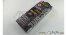 Кабель ASPOR A119, lightning USB, черный/серебро