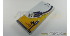 Кабель ASPOR A125, micro USB, черный