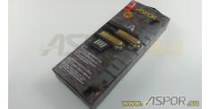 Кабель ASPOR A118, micro USB, черный/золото