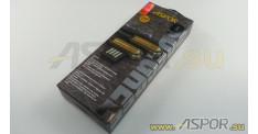 Кабель ASPOR A120, TYPE-C, черный/золото