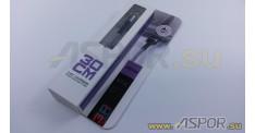 Кабель ASPOR A163, lightning USB, серебро