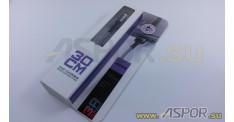 Кабель ASPOR A162, micro USB, серебро
