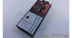 Наушники Aspor A208 (черный) + микрофон