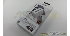 Зарядное устройство ASPOR A831, USB +  кабель USB - Lightning