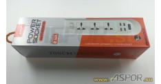 Сетевой фильтр ASPOR A502, черный