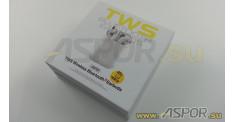 Наушники Aspor A616 TWS Window (Bluetooth 5.0) + микрофон, белый
