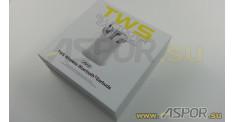 Наушники Aspor A616 TWS (Bluetooth 5.0) + микрофон, белый
