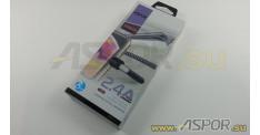 Кабель ASPOR A185 micro USB, черный/синий
