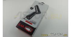 Автомобильное зарядное ASPOR A918, USB + кабель USB - Type-C, черный